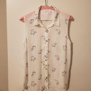 Adorable cat blouse